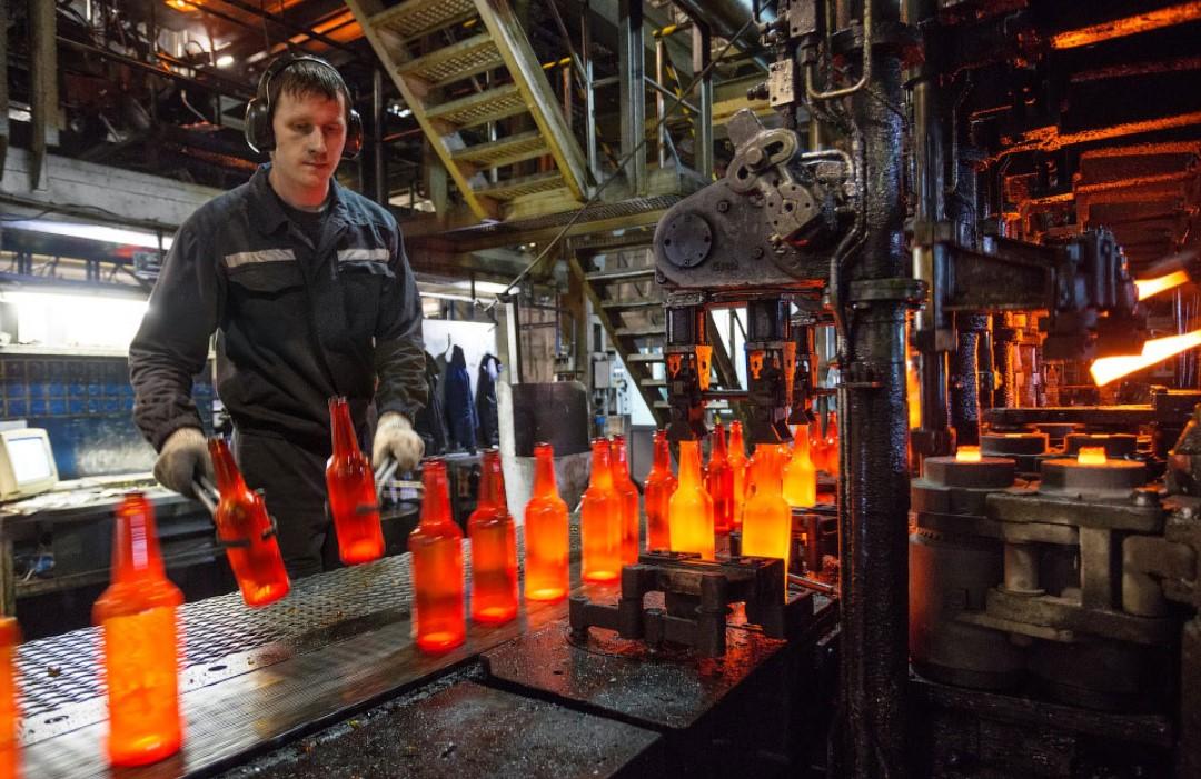 Производство стеклянных бутылок