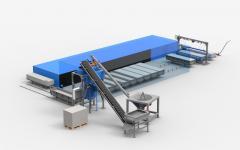 Линия конвейерного типа для производства газобетона производительностью 40 м3/сутки