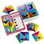 Настольная игра Мемори геометрия, серия: лапы, уши и  хвосты