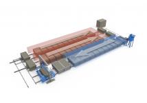 Мини-линия конвейерного типа для производства газобетона производительностью 26 м3/сутки