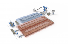 Линия конвейерного типа для производства газобетона производительностью 60 м3/сутки