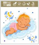 Детские фланелевые пелёнки 100% хлопок babe bicare