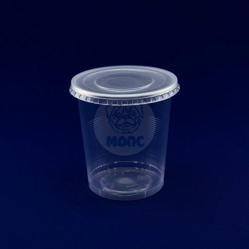 Крышка для одноразового контейнера Диаметр 94,5 прозрачная 50/60/3000