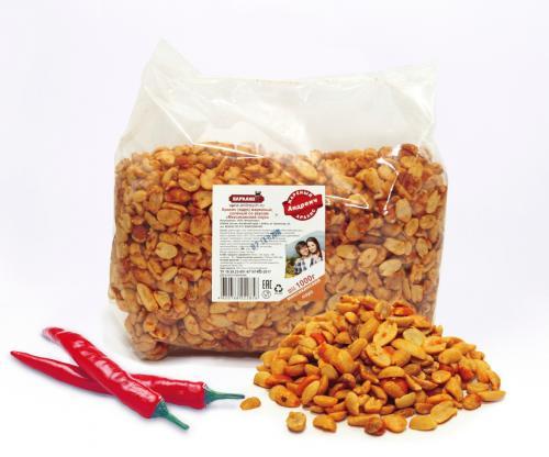Арахис сухая обжарка жареный соленый (ЖС), 8 вкусов
