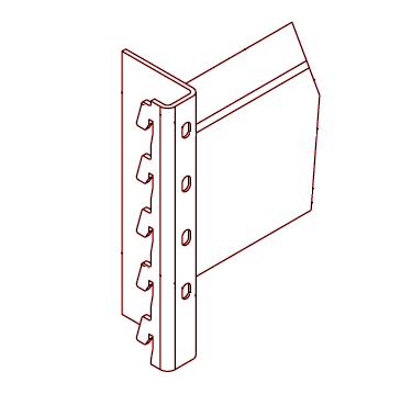Горизонтальная балка складского стеллажа 2700х95х1,2 мм
