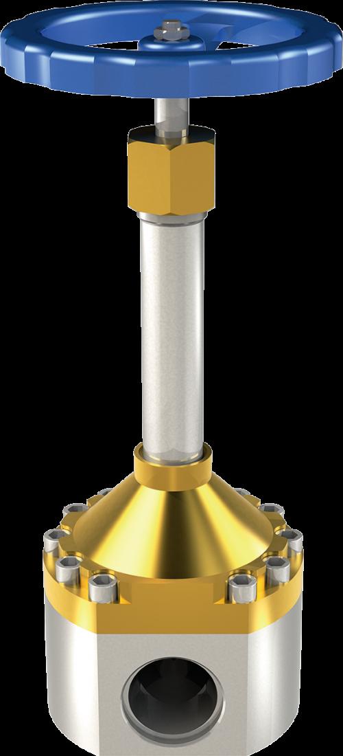Клапан криогенный запорный проходной CADUCEUS