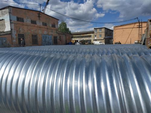 Спиральновитые гофрированные трубы горячего цинкования.