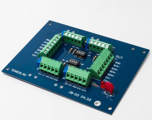 Клеммная коробка для подключения тензометрических датчиков