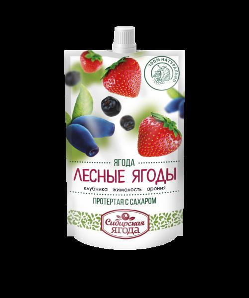 Лесные ягоды протертые с сахаром