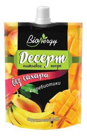 """Фруктовый десерт MIX """"Груша-Банан-Манго"""" """"BioNergy"""""""