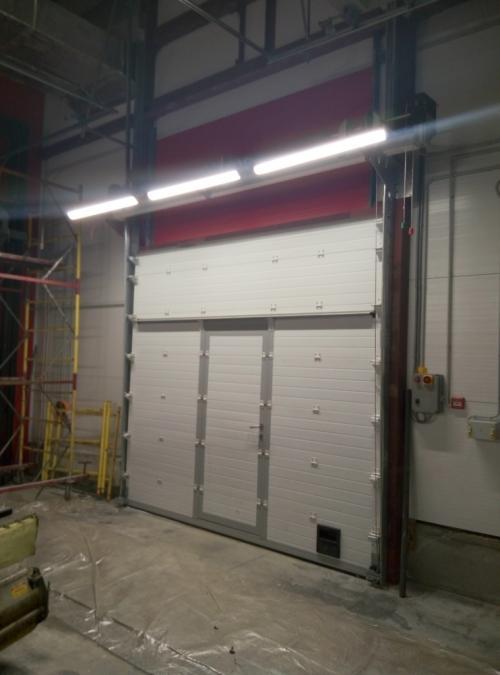 Ворота секционные противопожарные EI60
