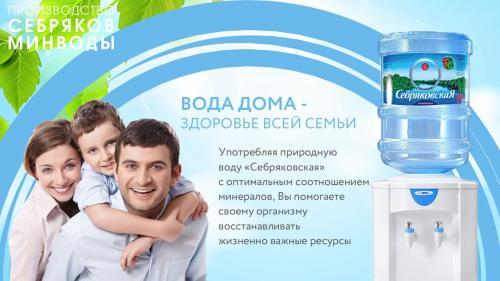 Питьевая негазированная вода «Себряковская»