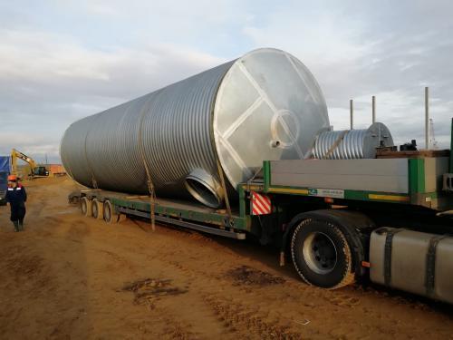 Спиральновитые металлические резервуары высококольцевой жёсткости