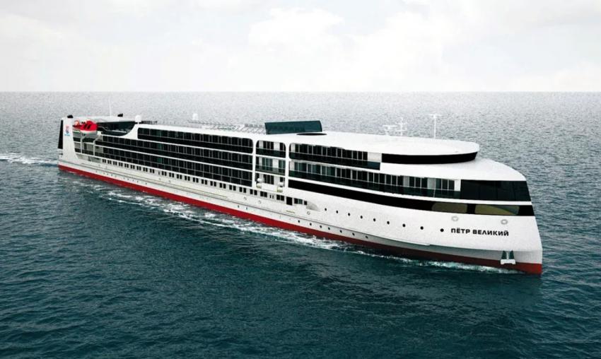 Новый «Петр Великий» воевать не будет: первый российский круизный лайнер спущен на воду