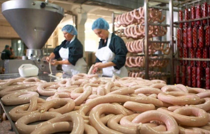 Состав мини цеха для производства колбасы