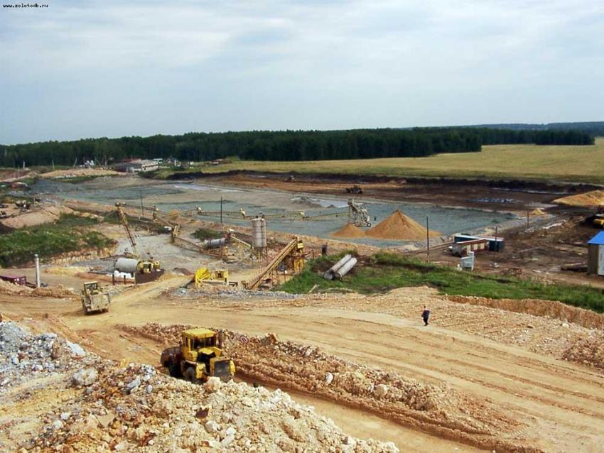 На площадке рудника «Пионер» запущено новое подразделение по обогащению золотоносной руды