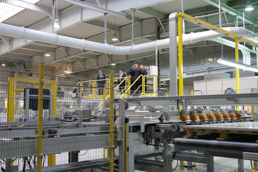 Первый российский завод цементных плит начал работу в Тульской области