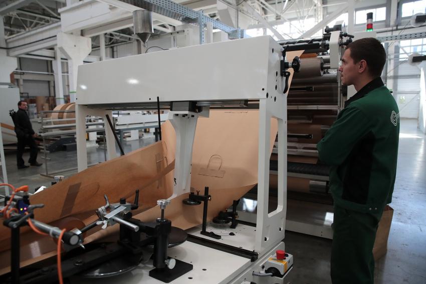 Открытие 2-й линии на заводе бумажной упаковке в Ростовской области