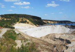 Люберецкий кварцевый песчаный карьер