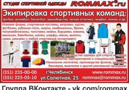 Производитель спортивной одежды ROMMAX