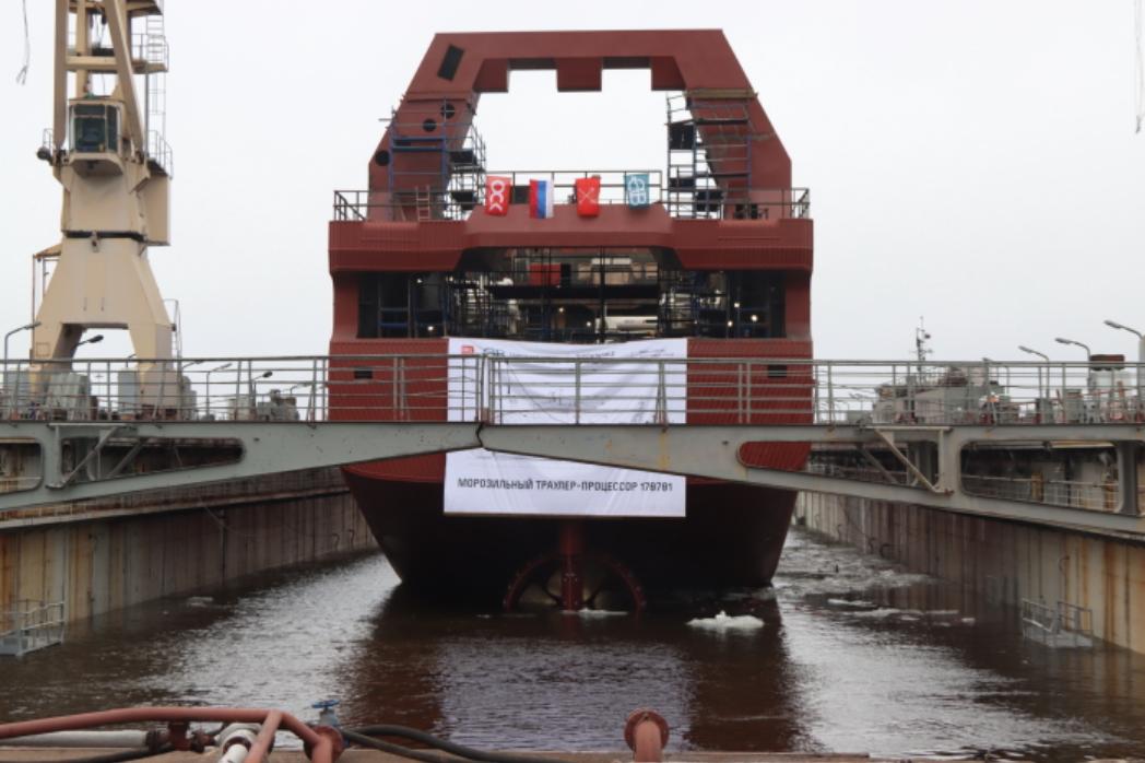 В России спустили на воду гигантский траулер, у которого нет аналогов